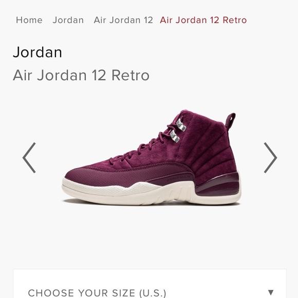 Jordan Shoes   Air 12 Purple Suede